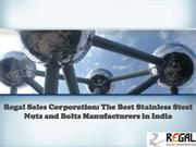 Regal Sales Corporation: The Best Stainless Steel Nuts and Bolts