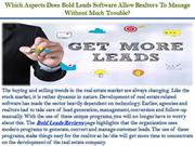 Which Aspects Does Bold Leads Software Allow Realtors To Manage Withou