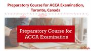 Preparatory Course for ACCA Examination, Toronto, Canada