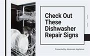 Check Out These Dishwasher Repair Signs