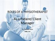 3. The Physical Therapist as a Patient Client Manager