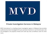 Private Investigation Services in Malaysia