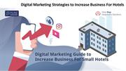 Digital Marketing Strategies to Increase Business For Hotels