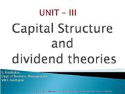 UNIT - III Capital Structure
