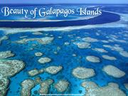 Beauty of Galapagos Islands