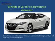 Benefits of Car Hire in Downtown Vancouver