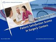 How to Improve Patient Satisfaction Scores in Surgery Centers