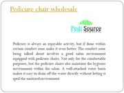 Pedicure chairs in Wholesale by Pedisource