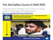Fire And Safety Course in Delhi NCR