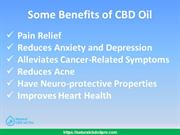 Some Benefits of CBD Oil - Natural CBD Oil Pro
