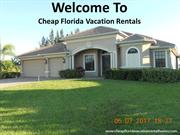 Cheap Florida Vacation Rentals