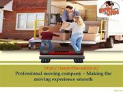 Professional moving company – Making the moving experience smooth