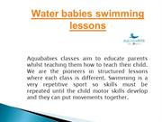Water babies swimming lessons