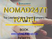 Online Flight Booking Only With Nomad247travel