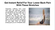 Get Instant Relief For Your Lower Back Pain With These Stretches