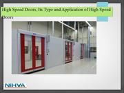 High Speed Doors, Its Type and Application of High Speed Doors