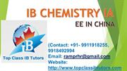 IB Chemistry IA Extended Essay Home Tutor and Assignments