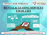 RENTAL & LEASING SERVICES EMAIL LIST