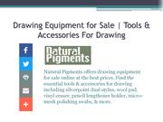 Tools & Accessories For Drawing | Drawing Equipment for Sale