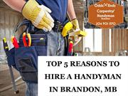 TOP 5 REASONS TO HIRE A HANDYMAN IN BRANDON, MB