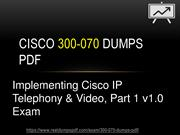 Cisco 300-070 Dumps Pdf Impressive 300-070 Exam Questions