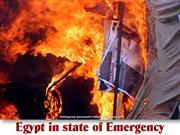 Egypt in state of Emergency