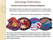 Custom Printed Patches - Advantage Embroidery