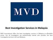 Best Investigation Services in Malaysia