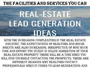 The facilities and services you can expect from Bold leads