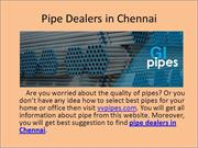 Pipe Dealers in Chennai