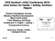 Health Safety Ontario Geological Survey