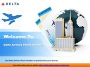 Call On Delta Airlines Phone Number For Flights Booking
