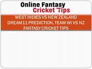 West Indies vs New Zealand Dream11 Prediction