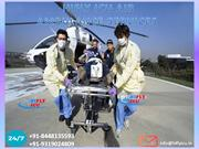 Book Low-Fare Air Ambulance Service from Guwahati to Delhi by Hifly IC