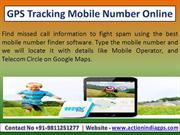 GPS Tracking of Mobile Number / GPS Tracking App