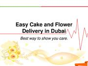 Cake and Flower Delivery in Dubai