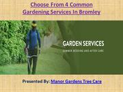 Choose From 4 Common Gardening Services In Bromley