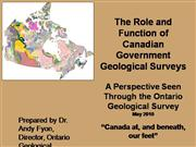 Role of Government geological surveys