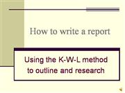 How to write a report - KWL ( audio)