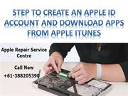 Step to Create an Apple ID Account and Download Apps from Apple iTunes