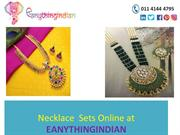 Neclace sets Online |Buy Neclace online at Eanythingindian