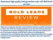 Experience high-quality lead-generation only with Bold leads services