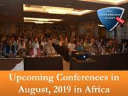 Upcoming Conferences in August, 2019 in Africa