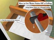 How to Get Water Stains Off a Ceiling