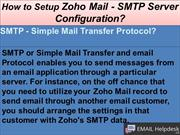 How to Setup Zoho Mail - SMTP Server