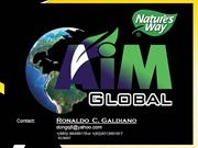 aim global product and marketing present