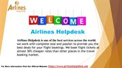 Contact Airlines Helpdesk Customer Service For Best Deal
