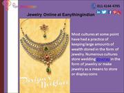 Buy Jewellery Online-Latest design Jewellery at Eanythingindian