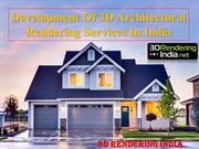 Development of 3D Architectural Rendering Services