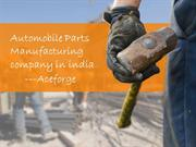Automobile Parts Manufacturing company in india